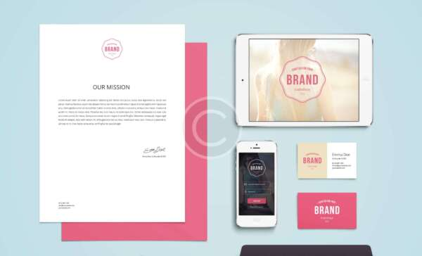 Branded Stationery, White Smooth Finish