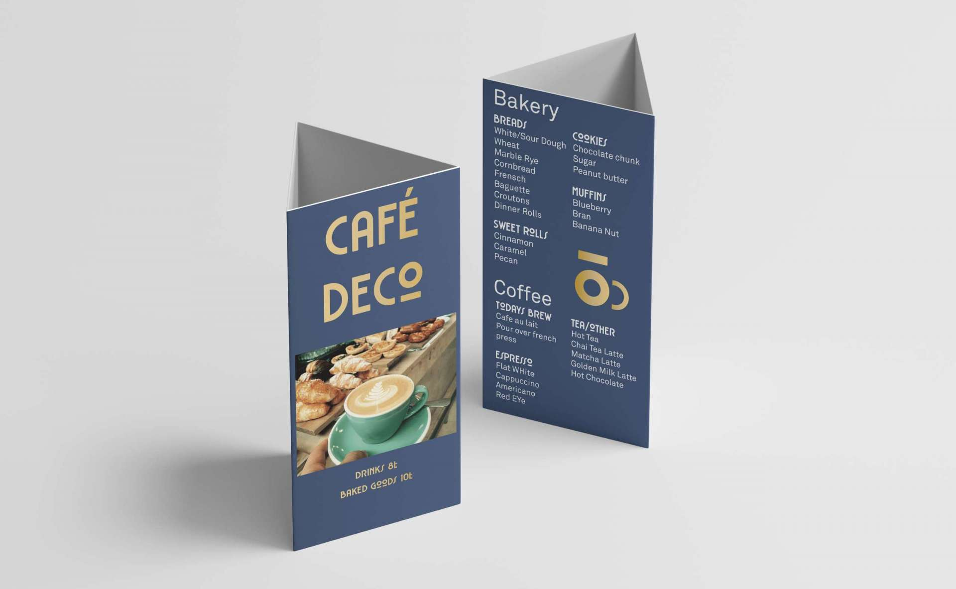 Restaurant Menu Tent Card