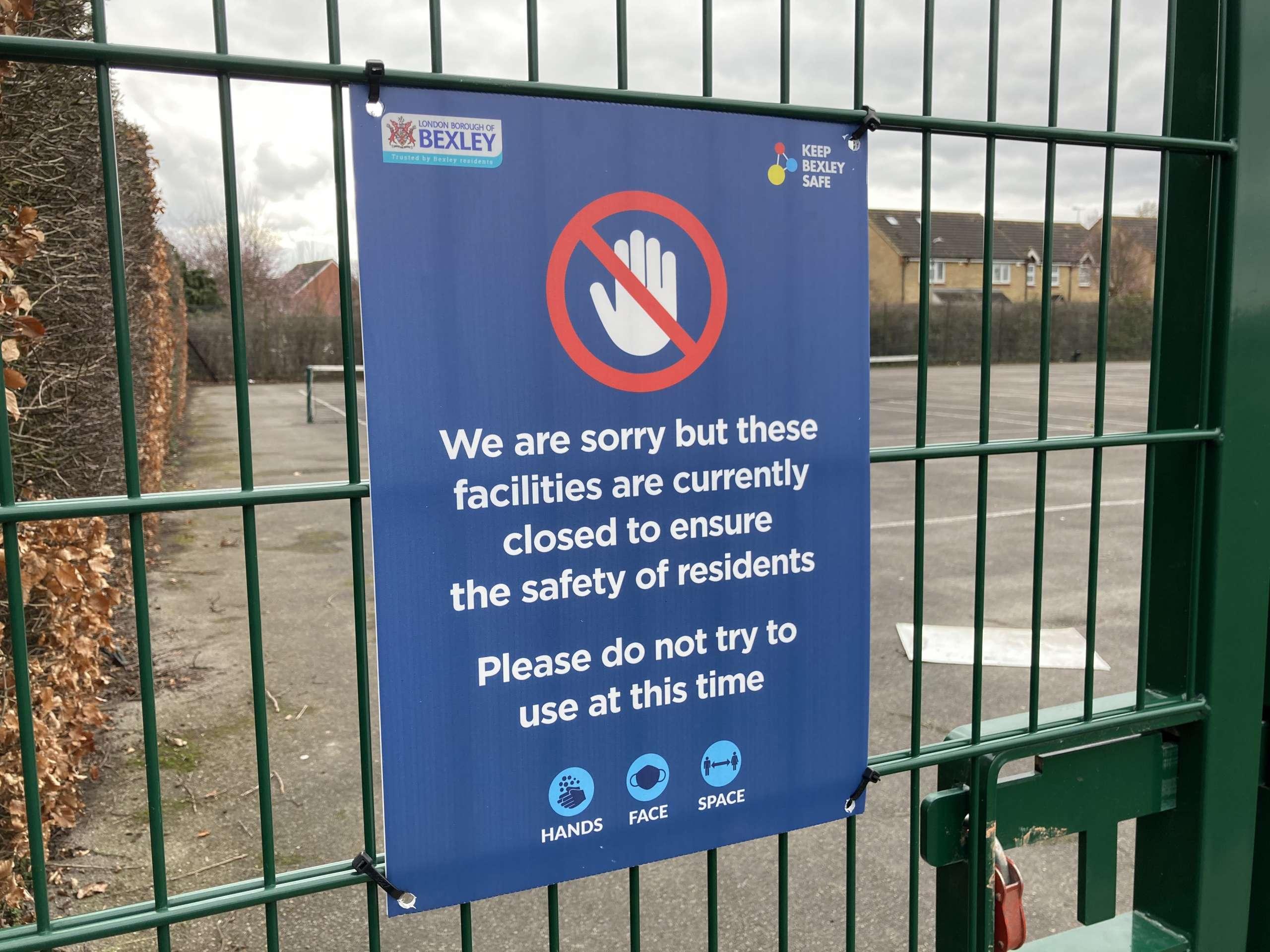 Lockdown Sign - Bexley