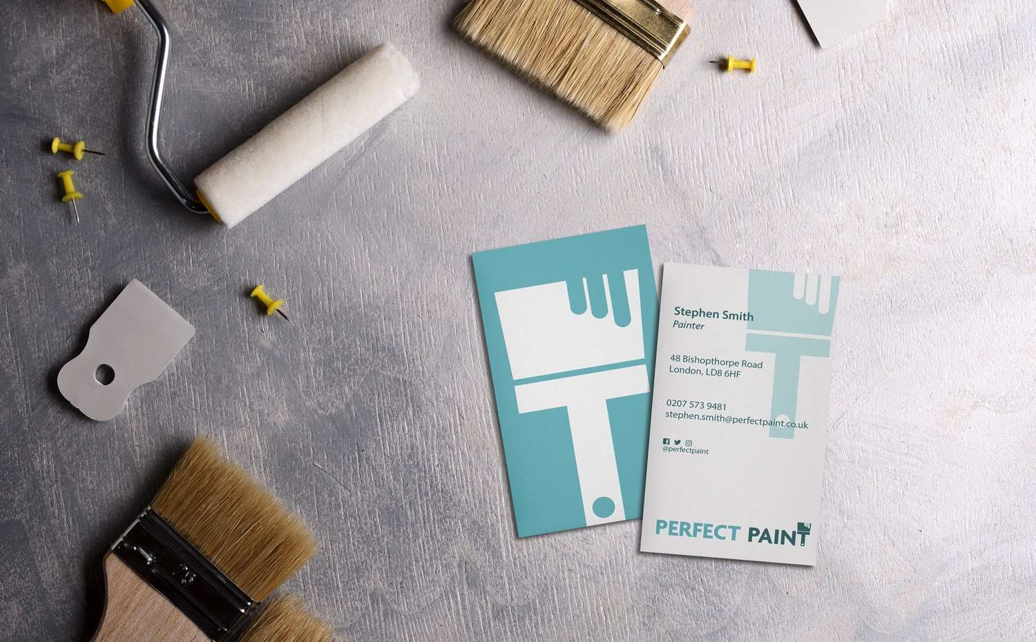 Business Card for a painting company